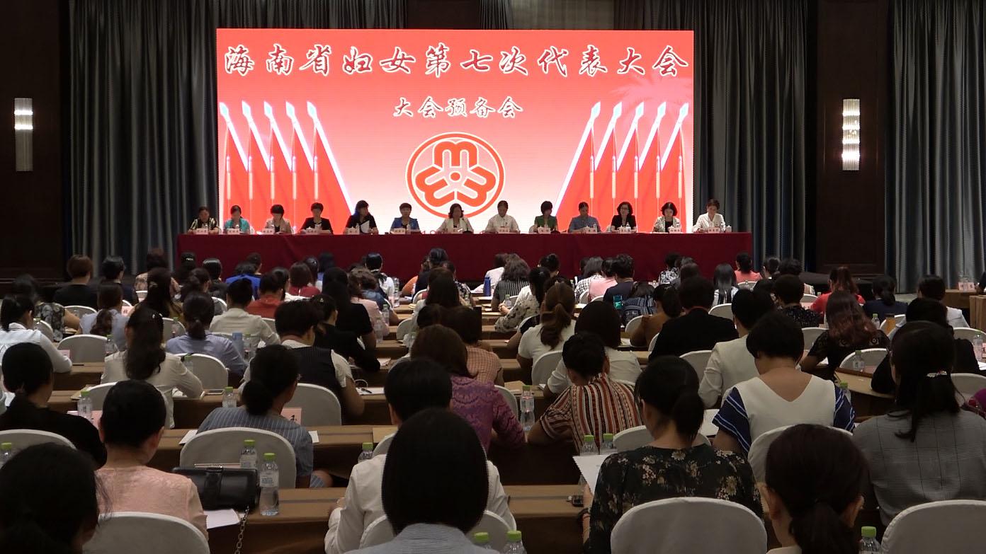 海南省妇女第七次代表大会举行预备会议
